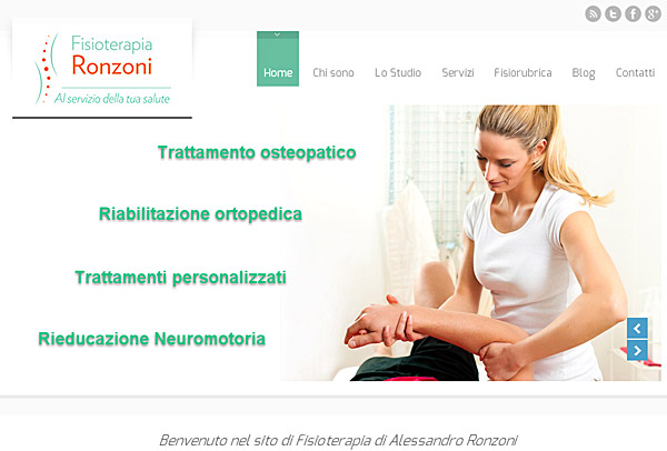 Sito WordPress fisioterapia