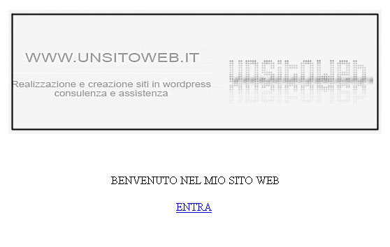 pagina personalizzata index splash