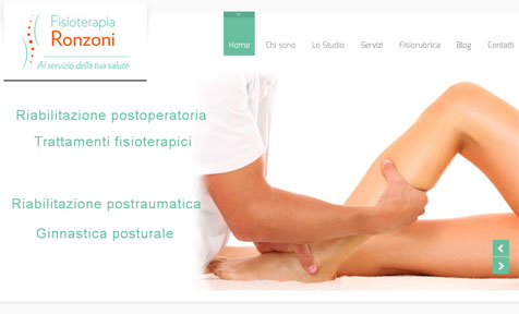 Sito wordpress studio di fisioterapia