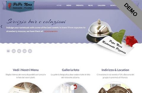 sito wordpress ristorante pizzerie