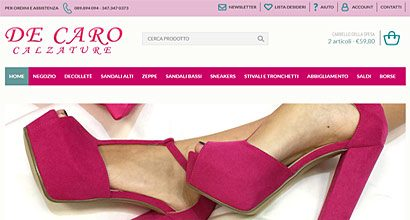 Sito wordpress ecommerce calzature
