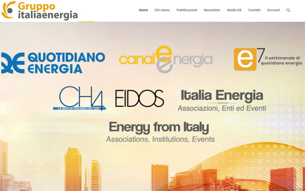 Sito wordpress italia energia