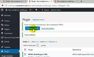 installare plugin wpml