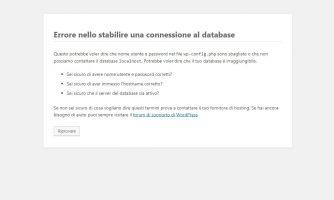 errore connessione database