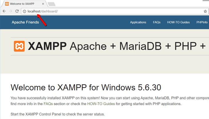 xampp installato