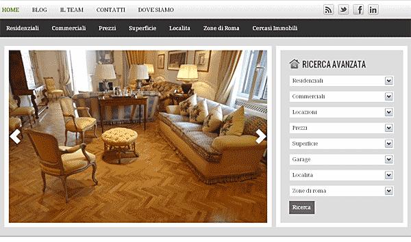 Sito wordpress agenzia immobiliare di Roma