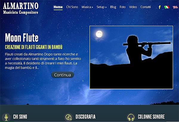 Nuovo sito wordpress per musicista e compositore di capri