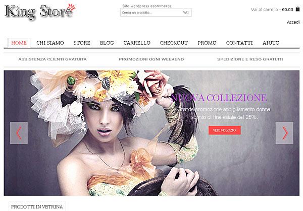 Realizzazione sito wordpress ecommerce